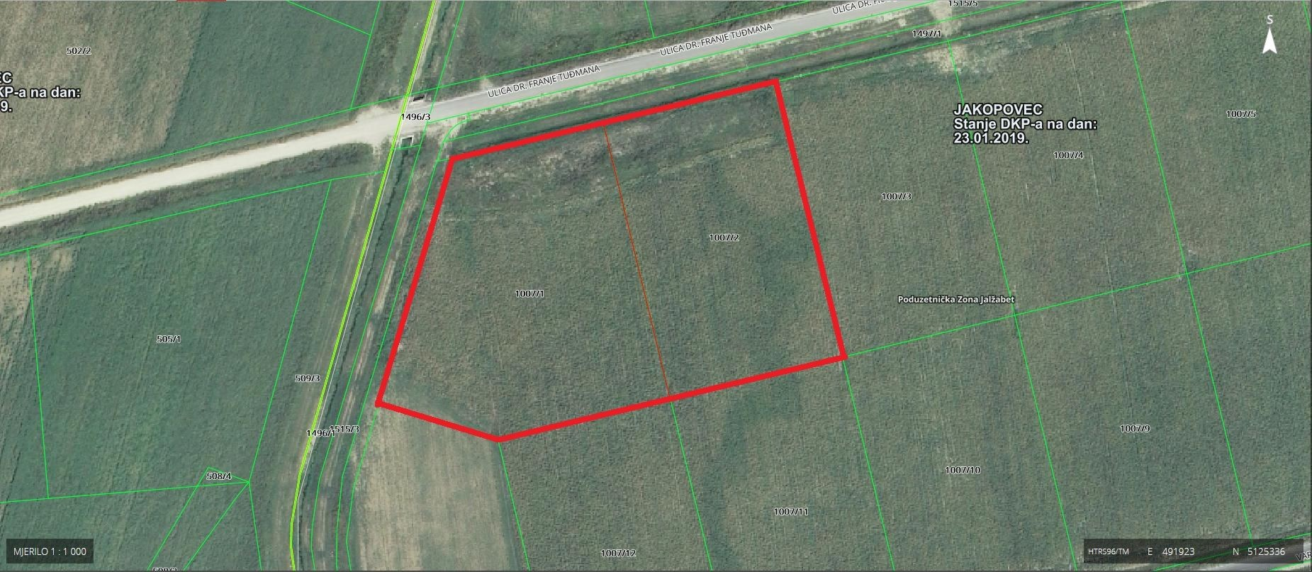 Construction plot for commercial properties, Sale, Jalžabet, Jakopovec